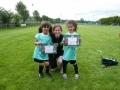 Rosie gives the twins their certs