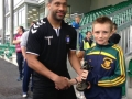 David Geary U14 Player of the Year with Freddy Hall Limerick FC Keeper
