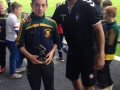 Jack Molloy U13 Player of the Year with Limerick FC keeper Freddy Hall