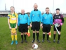 Captains and match officials before the game