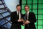 Forde receives U19 award from Irelands Kevin Doyle.