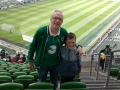 Paul and Liam Molloy at the Aviva