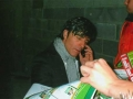 The German team manager Joachim Low signs autographs for the Ballingarry boys.