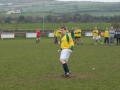 Timmy O'Connell scores his penalty in the Over 35's v Past Player XI charity game on St. Stephen's Day 2005.