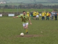 Liam Casey scores his penalty in the Over 35's v Past Player XI charity game on St. Stephen's Day 2005.