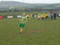 Pascal Moynihan dispatches his penalty in the Over 35's v Past Player XI charity game on St. Stephen's Day 2005.