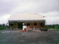 A picture showing the clubhouse ready to be tiled. Taken 7th February 1999