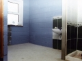 Interior work continues on the referee\'s changing room. Picture taken August 2000.
