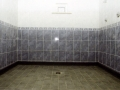 A picture showing the shower area of the clubhouse. Picture taken August 2000.