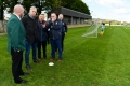 John Delaney, CEO, FAI, is shown around the facilities by club officials, including Shane Markham, Underage Committee, Ballingarry AFC and David O\'Hanlon, Chairman, Ballingarry AFC, during the FAI Club Mark Presentation at Ballingarry AFC, Limerick.