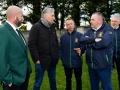 John Delaney, CEO, FAI, is shown around the facilities by club officials, including Shane Markham, Underage Committee, Ballingarry AFC and David O'Hanlon, Chairman, Ballingarry AFC, during the FAI Club Mark Presentation at Ballingarry AFC, Limerick.
