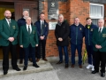 In attendance during the FAI Club Mark Presentation at Ballingarry AFC, Limerick is John Delaney, FAI, CEO, with club officials including David O'Hanlon, Chairman, Shane Markham, underage committee and John Clancy, vice-chairman.