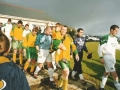 Teams enter the pitch for the 2002 final