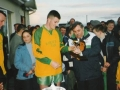 Man of the Match Donal O'Grady receives his award from Mike Hanley