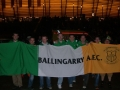 Ballingarry AFC boys in Gdansk with the flag