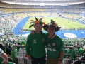 Nathan and James Clancy inside the Stade de France for Sweden game.