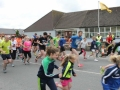 And they're off as the first ever Ballingarry AFC Fun Run gets under way.