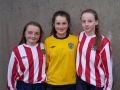 Anna Mullane, Ciara Houlihan & Nicole McNamara who have made the U15 Munster schools panel 2017.