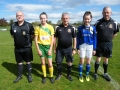 Captains and match officials before game.