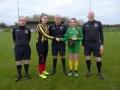 Ballingarrys Anna Mullane presents pennant to Askeaton captain