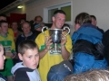 Aidan Barrett accepts the cup for Ballingarry