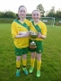 Goal scorers Sarah Hayes and Nicole O\'Dwyer
