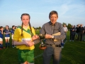 Captain Nicole McNamara accepts trophy for John Phillips LDS-GL