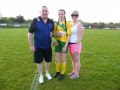 Captain Nicole with parents Micky and Michelle