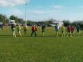 Ballingarry AFC Ladies team warm up before kick-off.