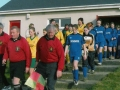 The teams enter the pitch for the first ever Ladies Desmond Cup Final, 25th February 2006.
