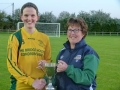Sarah Crotty accepts the Desmond Cup