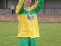 Aidan Barrett lifts the trophy