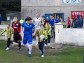 Ballingarrys Sean O'Connor leads out the Limerick FC team