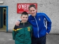 Mark O'Kelly with former Irish international Dominic Foley