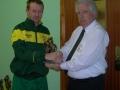 Francis Kiely receives award for 200 appearances