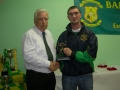 A team Player of the Year Niall Cahill receives award from Moss Doody
