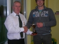A team Player of the Year Brian Fitzgerald receives award from John Clancy