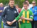Alan Murphy receiving man of the match award