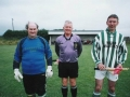 "Over 35's ""Champions League"" Final 2005 - Ballingarry 0-1 Creeves: The team captains line out prior to the Over 35's 'Champions League' Final between Creeves and"