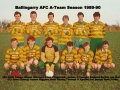 Ballingarry AFC A team which played the B team on St. Stephens Day 1989