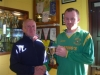 Francis Kiely receives award from John Clancy