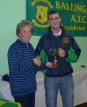 Niall receives his award from Crissie Danaher