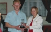 Denis Kelly receives his player of the year award for season 2007/08