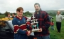 Timmy receives his player of the year award from Club Chairman Benjy Kelly
