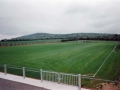 A Job Well Done: A view of Ballingarry AFC pitch with the work completed. Knockfierna hill can be seen in the background
