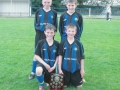 Ballingarry players Mikey Morrissey, Cathal O'Keeffe, Mikey Hickey and Nathan Clancy,