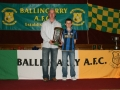 LDSL U/12 Interleague Squad 2010 - Mikey Hickey with Kevin Clifford and the Munster Trophy