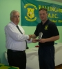Eoin Kennedy receives 50 goal award from Moss Doody
