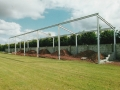 Steel erected for the spectator stand. Taken 8th June 1997.