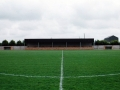 A view of the completed spectator stand from the centre circle. Taken 23rd August 1998.